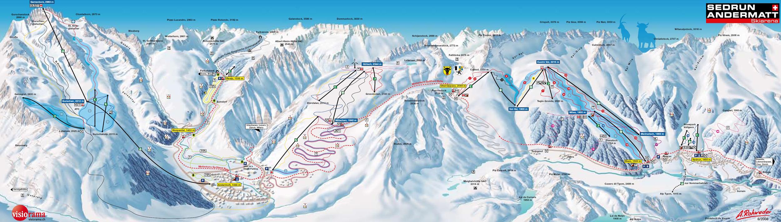 Andermatt Switzerland February 2016 ESOCEUMETSAT ski club